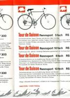 Tour de Suisse Prospekt 70er Jahre
