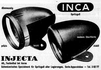 Inca Werbung aus der NZZ von 1942